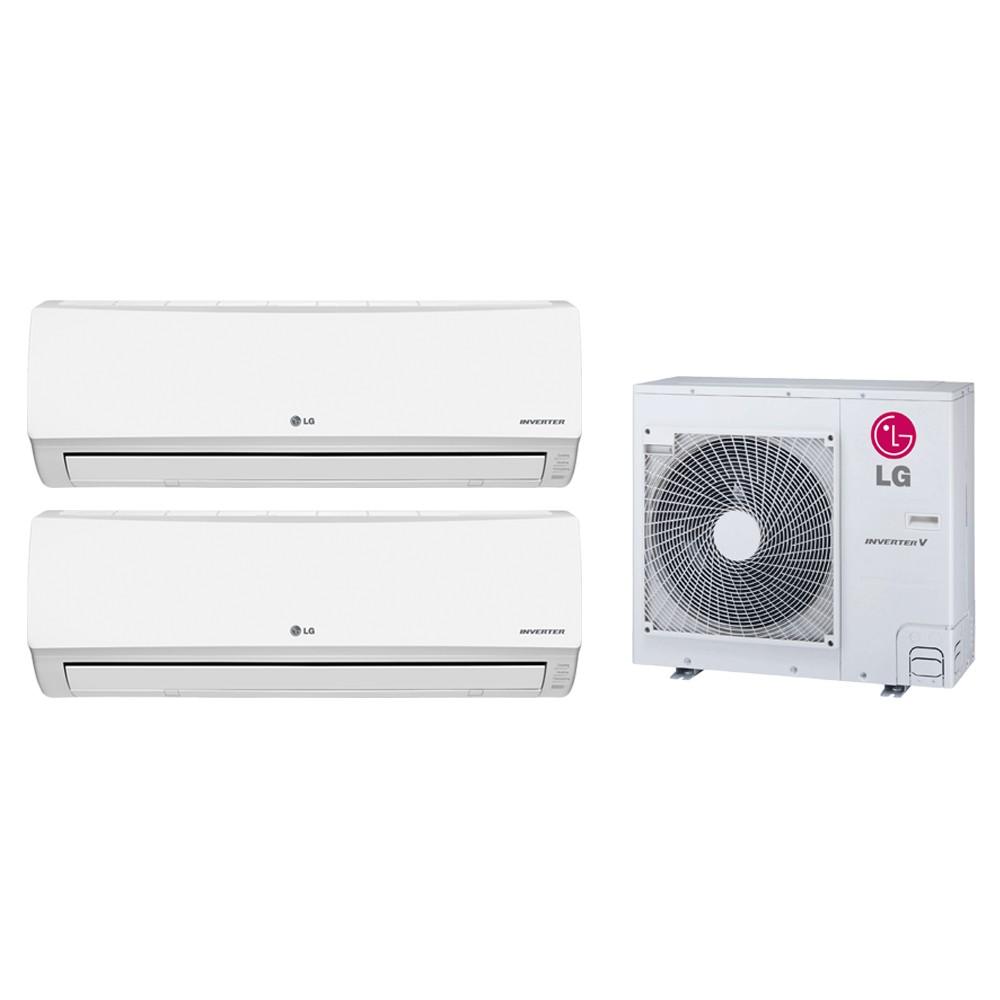 Ar Condicionado Multi Split LG Inverter 2X9.000 e Cond. 16.000 BTUs Quente/Frio - 220v