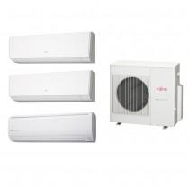 Ar Condicionado Multi Split Fujitsu (1x Evap HW 9.000 + 1x Evap HW 12.000 + 1x Evap HW 24.000 + cond  27.000 BTUs) Quente/Frio 220V