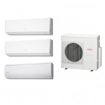 Ar Condicionado Multi Split Fujitsu (2x Evap HW 9.000 + 1x Evap HW 24.000 + cond 27.000 BTUs) Quente/Frio 220V