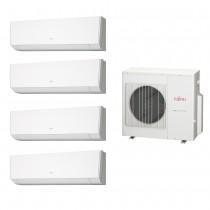 Ar Condicionado Multi Split Fujitsu (4x Evap HW 12.000 + cond 27.000 BTUs) Quente/Frio 220V
