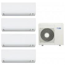 Ar Condicionado Multi Split Advance Inverter Daikin 3X9.000 + 1X24.000 + Cond. 34.000 BTUS Quente/Frio - 220V