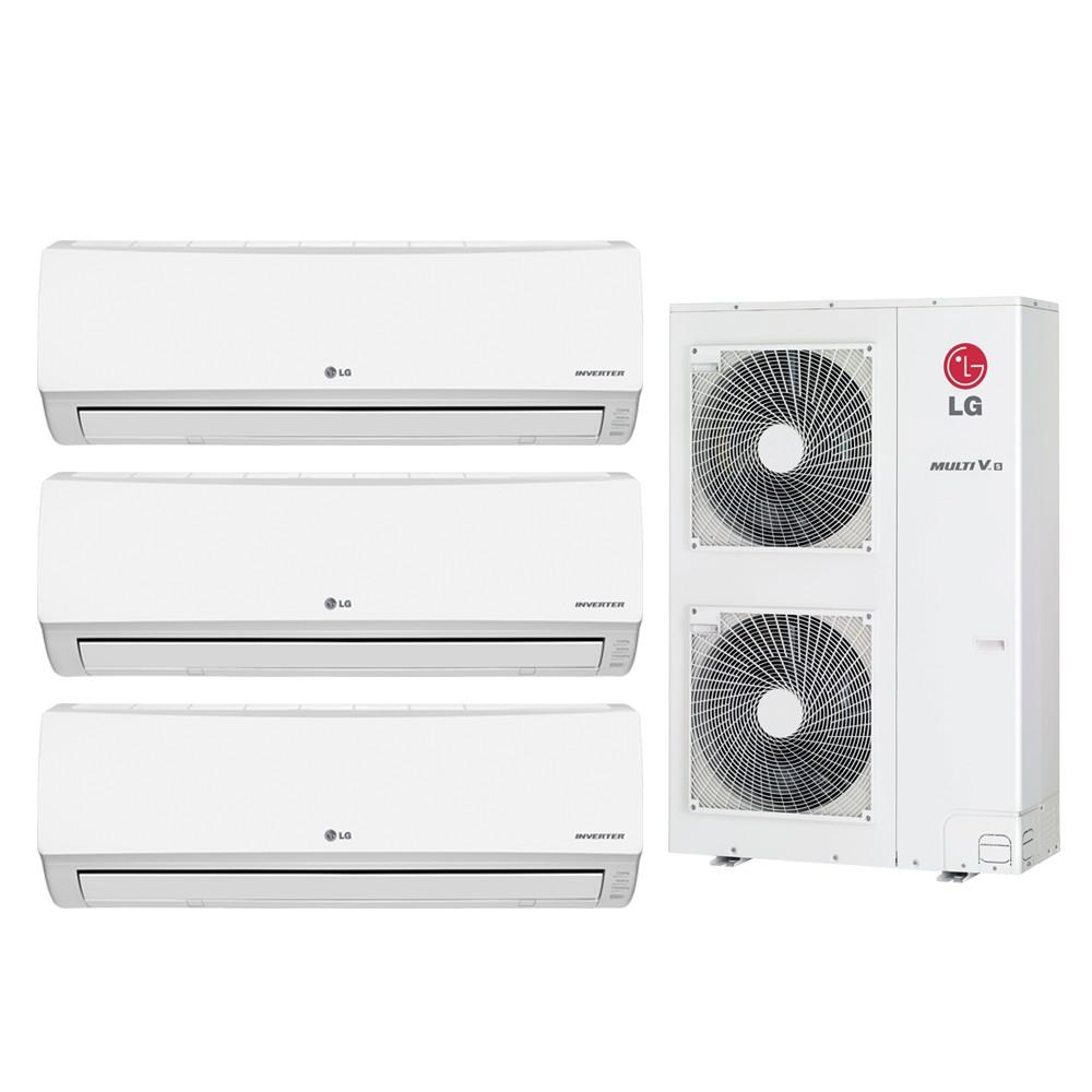 Ar Condicionado Multi Split LG Inverter 2X12.000 + 1x24.000 e Cond. 30.000 BTUs Quente/Frio - 220v