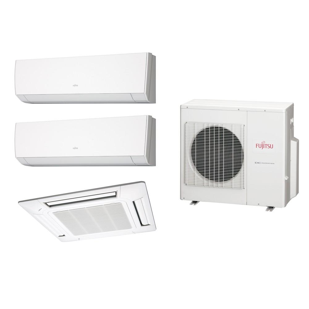 Ar Condicionado Multi Split Fujitsu (2x Evap HW 9.000 + 1x Evap Cassete 4 Vias 12.000 + cond 23.000 BTUs) Quente/Frio 220V