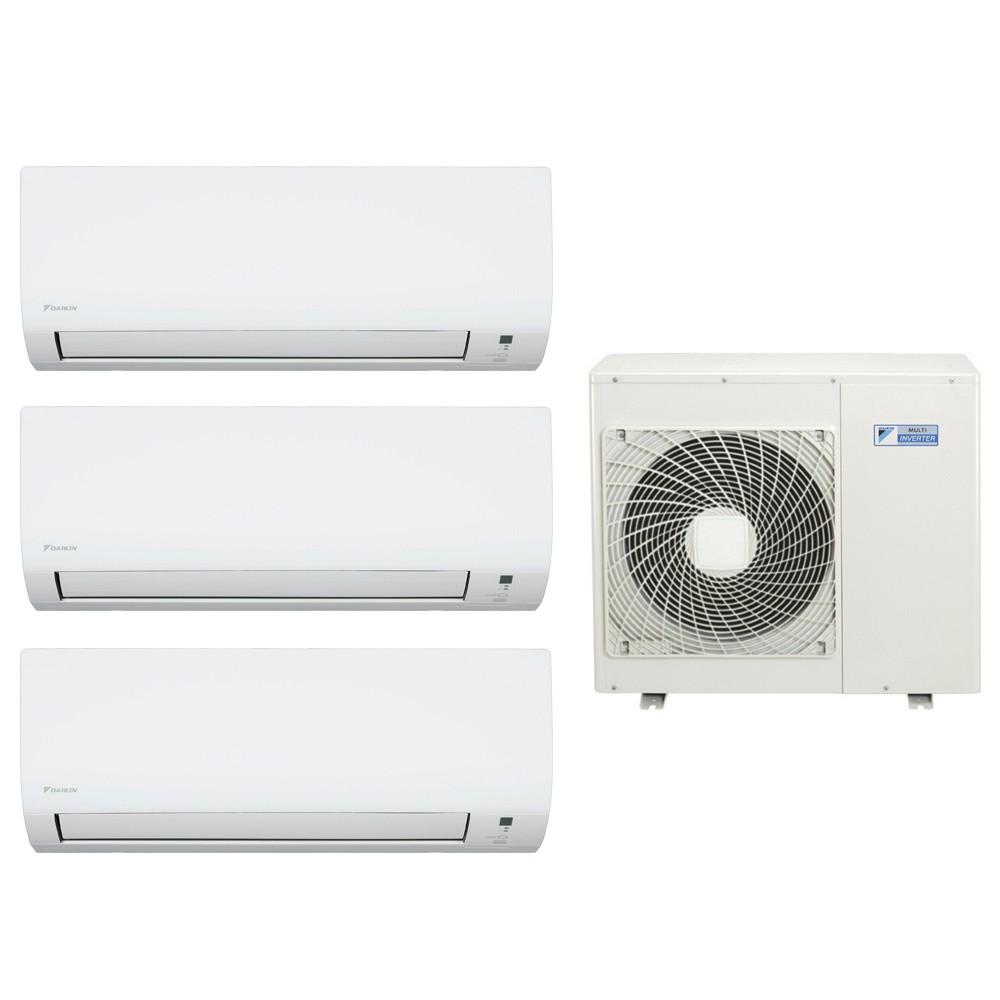Ar Condicionado Multi Split Advance Inverter Daikin 2X9.000 + 1X24.000 e Cond. 28.000 BTUs Quente/Frio - 220V