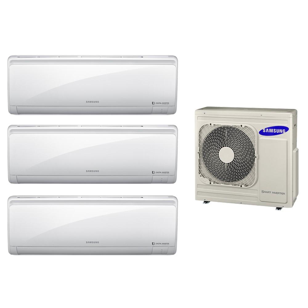 Ar Condicionado Multi Split Inverter Samsung 3x12.000 e Cond. 27.000 BTUs Quente/Frio - 220V