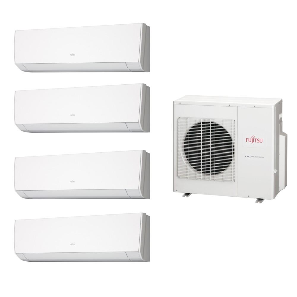 Ar Condicionado Multi Split Fujitsu (2x Evap HW 9.000 + 2x Evap HW 12.000 + cond 27.000 BTUs) Quente/Frio 220V