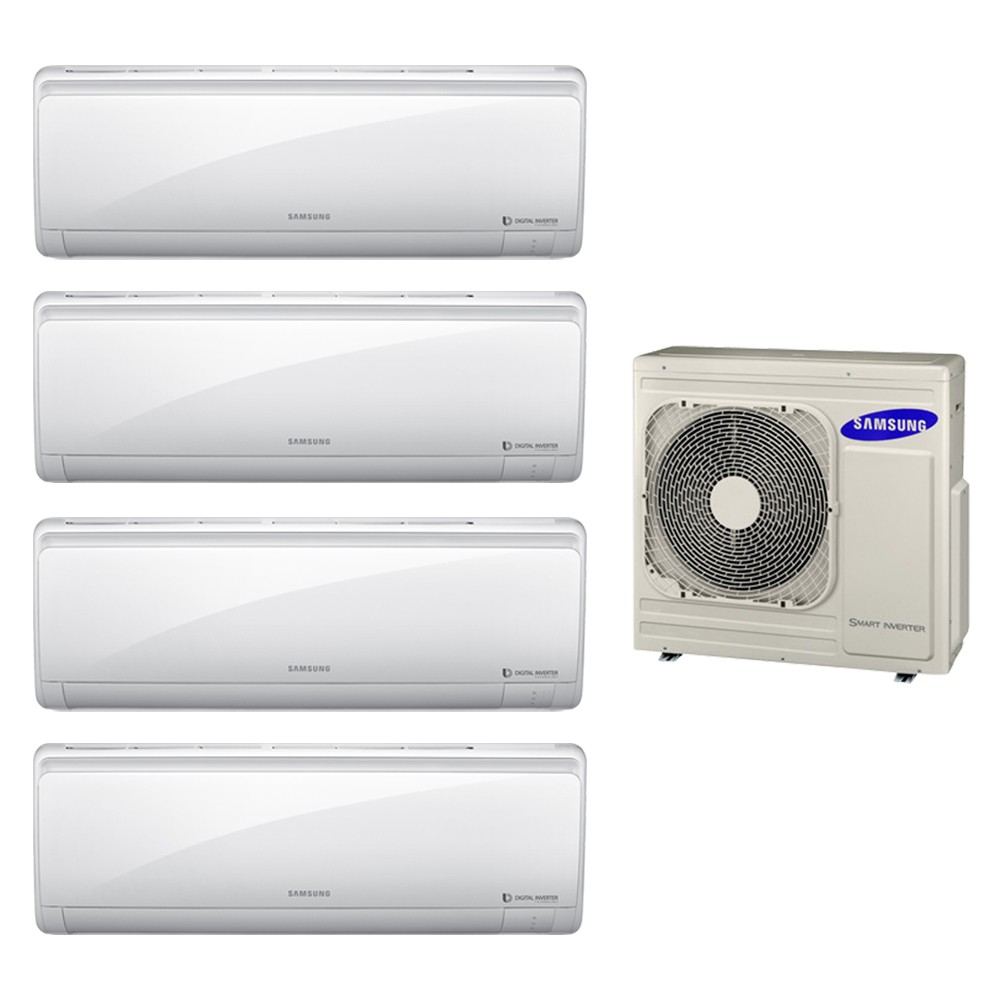 Ar Condicionado Multi Split Inverter Samsung 2x9.000 + 2x12.000 e Cond. 27.000 BTUs Quente/Frio - 220V