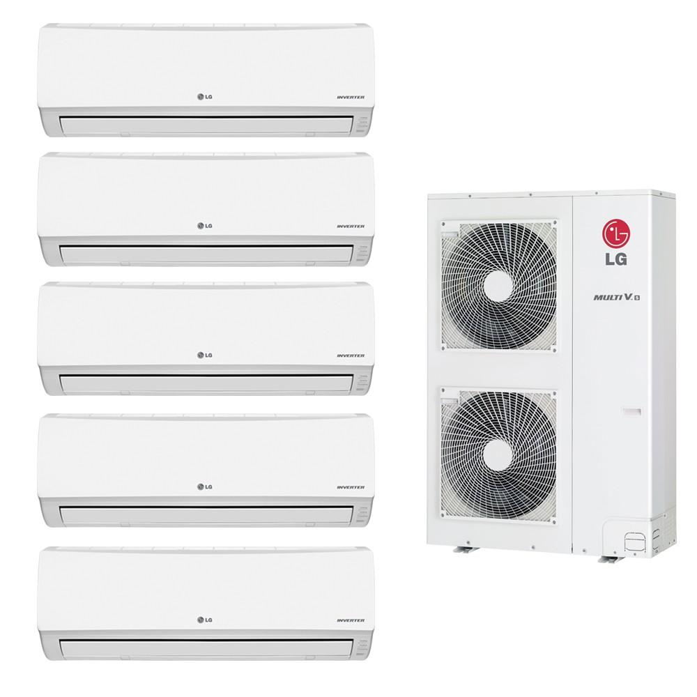 Ar Condicionado Multi Split LG Inverter 5x12.000 e Cond. 38.000 BTUs Quente/Frio - 220v