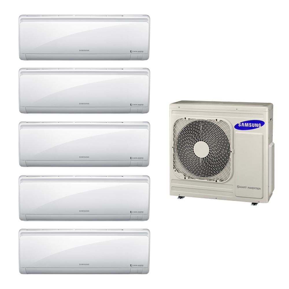 Ar Condicionado Multi Split Inverter Samsung 2x9.000 + 3x12.000 e Cond. 34.000 BTUs Quente/Frio - 220V