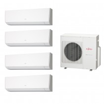 Ar Condicionado Multi Split Fujitsu (1x Evap HW 9.000 + 3x Evap HW 12.000 + cond 27.000 BTUs) Quente/Frio 220V