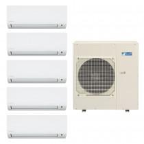 Ar Condicionado Multi Split Advance Inverter Daikin 4X9.000 + 1x12.000 + Cond. 38.000 BTUS Quente/Frio - 220V