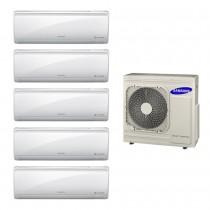 Ar Condicionado Multi Split Inverter Samsung 5x9.000 e Cond. 34.000 BTUs Quente/Frio - 220V